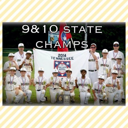 9 and 10 little league champs a