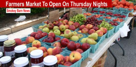 Farmers market Thursday nights slider