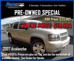 Payne pre owned 300 aug ad