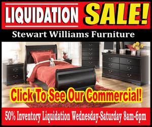 Stewart Williams Liquidation sale ad 300