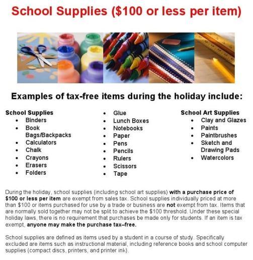 school items tax day a