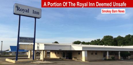 portion of royal inn deemed unsafe slider