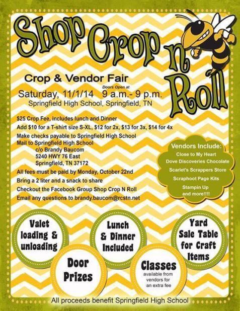 shop crop roll flyer