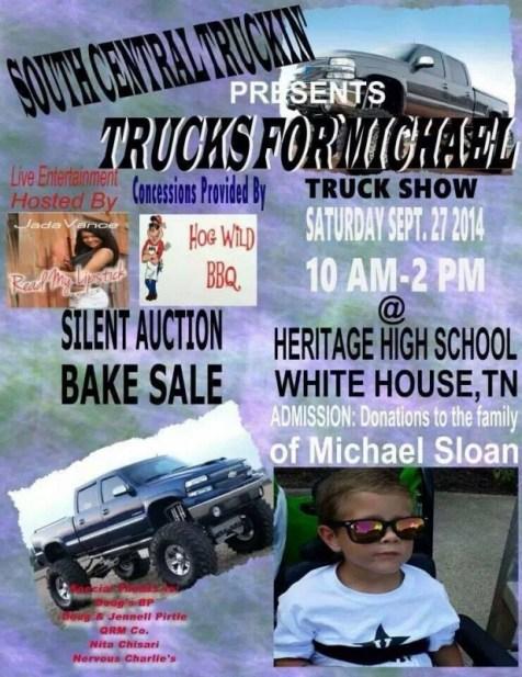 trucks for Michael flyer