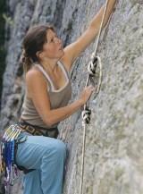 Female climber in squamish, british columbia, canada.