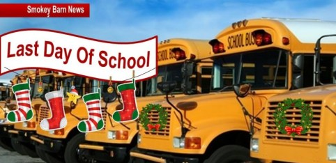 Last day of school for Holidays slider a