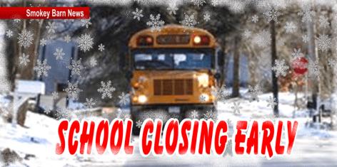 School closing early slider