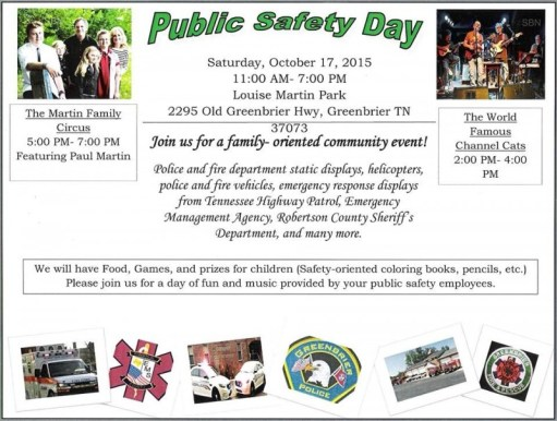 greenbrier safety day flyer 2015