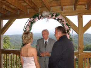 Pastor Larry Smoky Mountain wedding