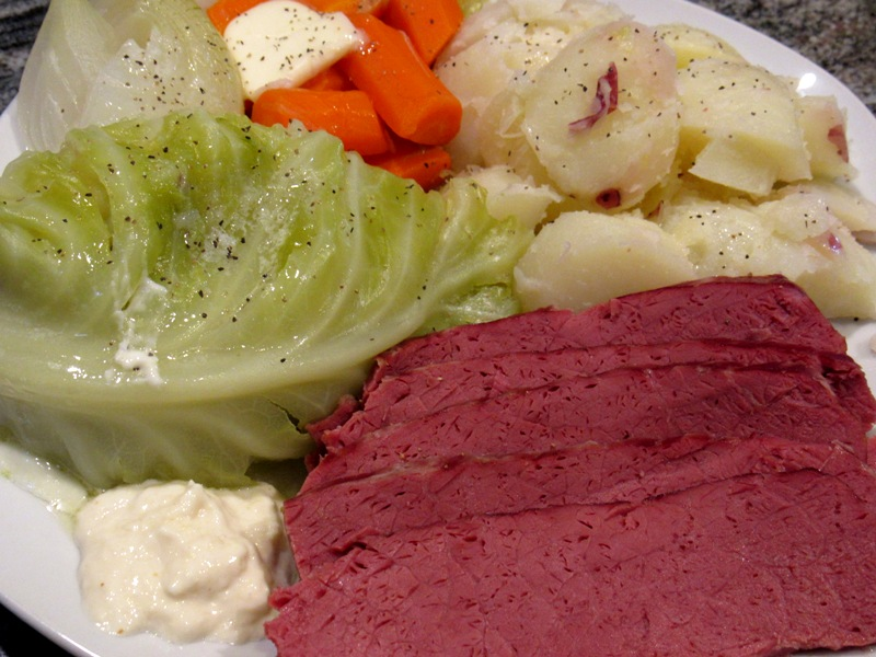 Round Corned Beef and Cabbage