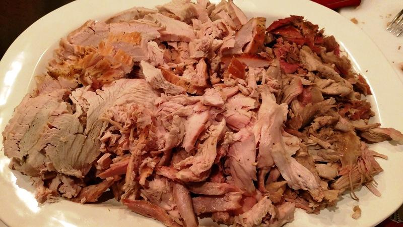 Carved 17 lb Smoked Turkey