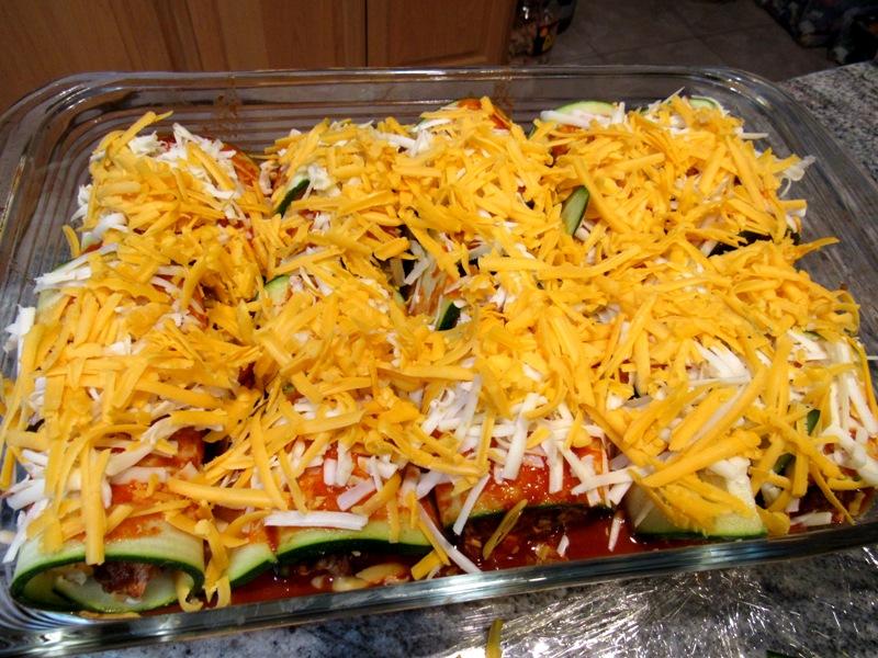 Prepped Zucchini Enchiladas