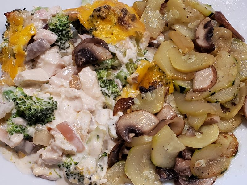 Smoked Chicken Broccoli Casserole