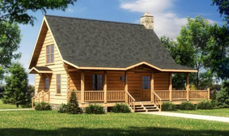 Log Home Plans   Cabin Designs from Smoky Mountain Builders   Tiny     Log Cabin Floor Plans