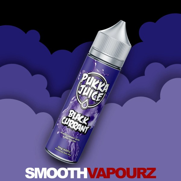 Pukka Juice - Blackcurrant - 50ml vape juice - Smooth Vapourz