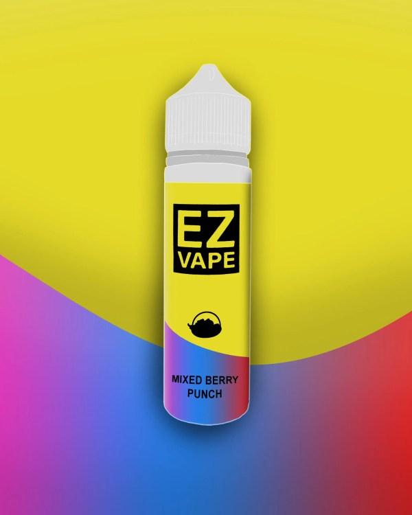 EZ Vape - 50ml - Mixed Berry Punch - 3 for £10 - Smooth vapourz