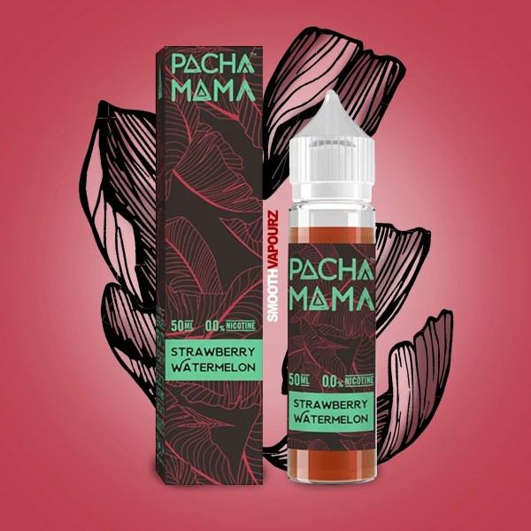 Pacha Mama e-liquid 50ml shortfill Strawberry Watermelon - smooth vapourz