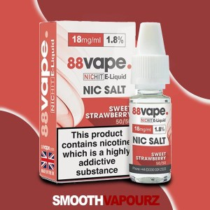 Sweet Strawberry 88 Vape Nic Salt - smooth vapourz