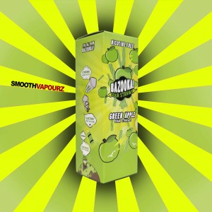 Bazooka - Sour Straws - Green Apple - 100ml E-liquid - Smooth Vapourz