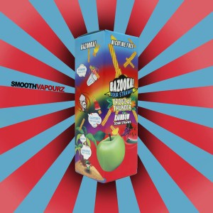 Bazooka - Sour Straws - Tropical Thunder - 100ml E-liquid - Smooth Vapourz