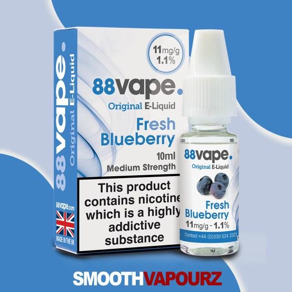 fresh blueberry 88 Vape 10ml Vape Juice - smooth vapourz