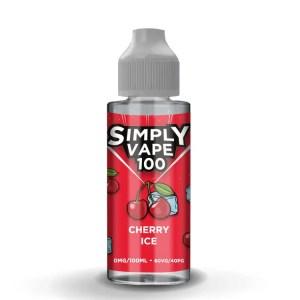 Simply Vape 100 - 100ml e-liquid Vape juice - Cherry Ice - Smooth Vapourz