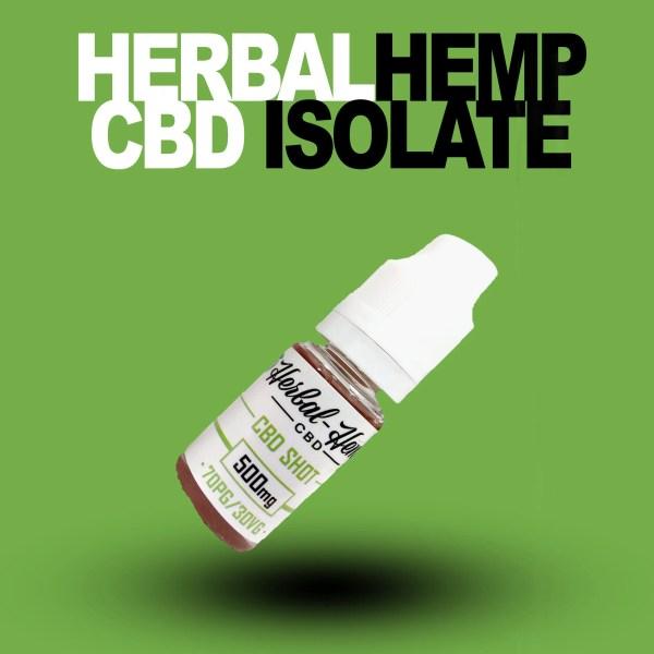 Herbal Hemp - CBD Vape Juice shots - CBD Isolate - Smooth Vapourz