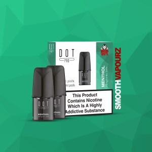 Dot Pro Pod menthol 20mg pods 2 pack smooth vapourz