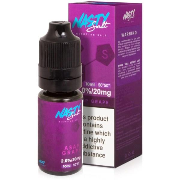 Nasty Salts - Asap Grape - 10ml - Smooth Vapourz £3.99