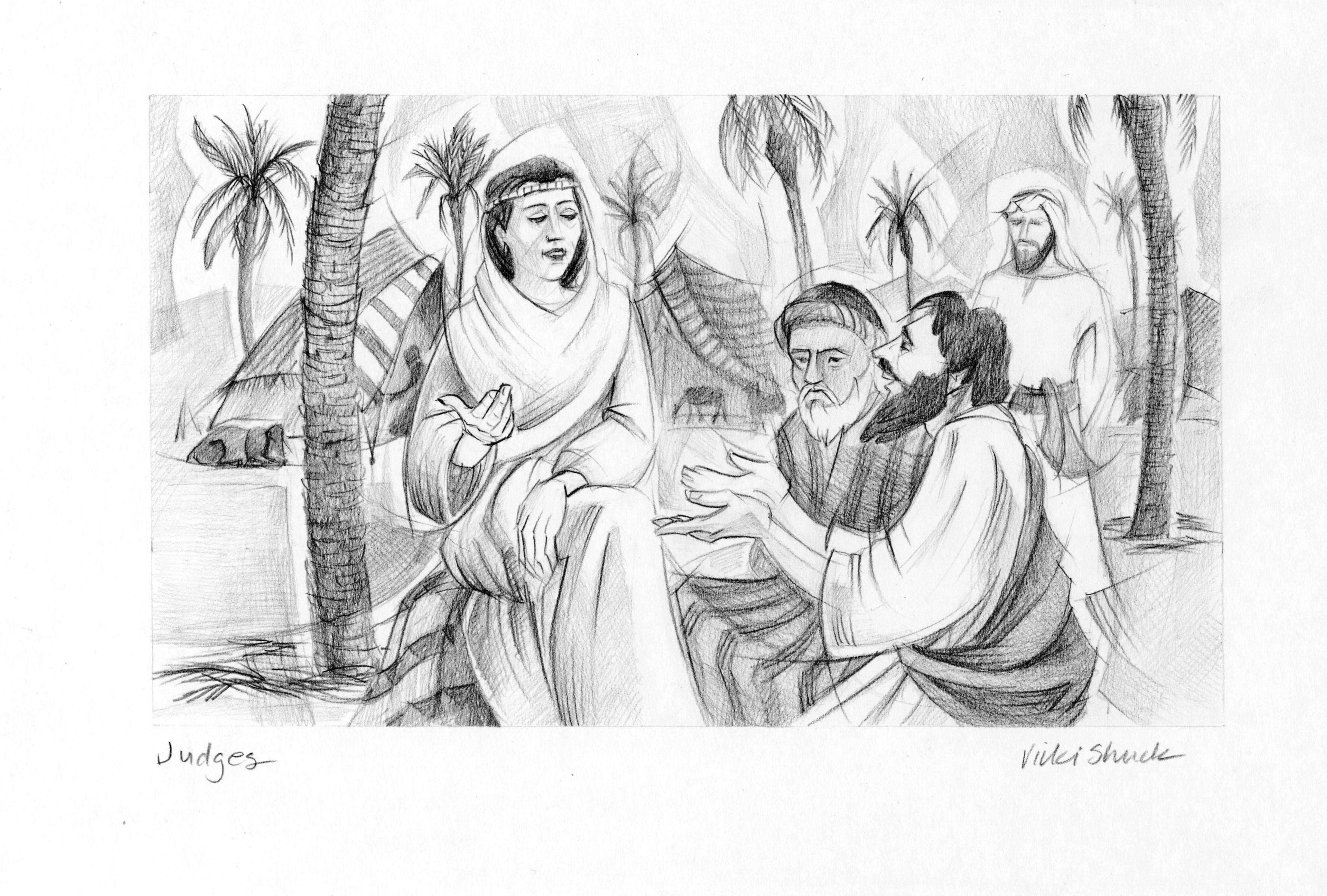 Judges 4 5 Illustration