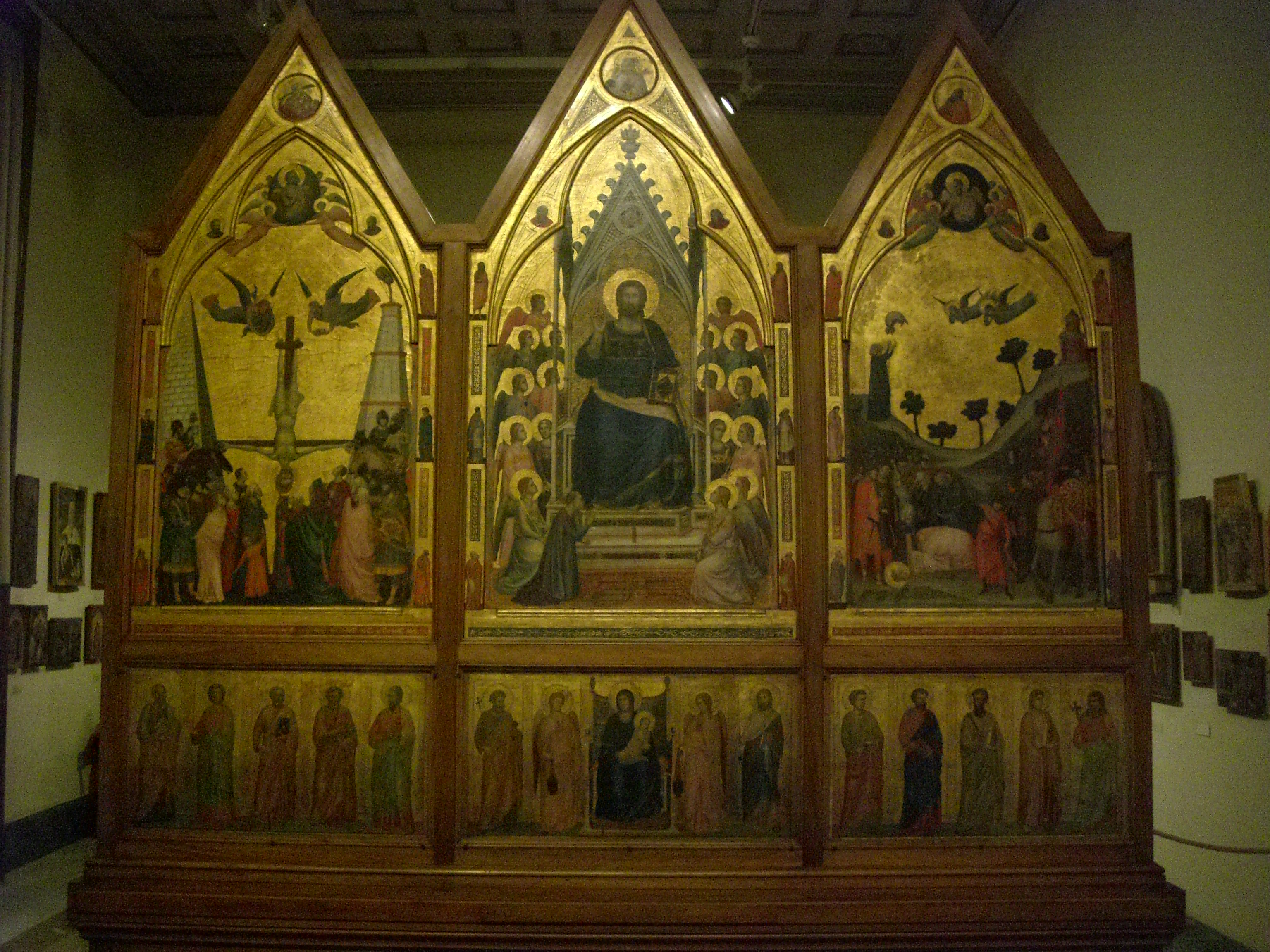 Vatican Museum Pinacoteca Art Gallery Stefaneschi Triptych By Giotto