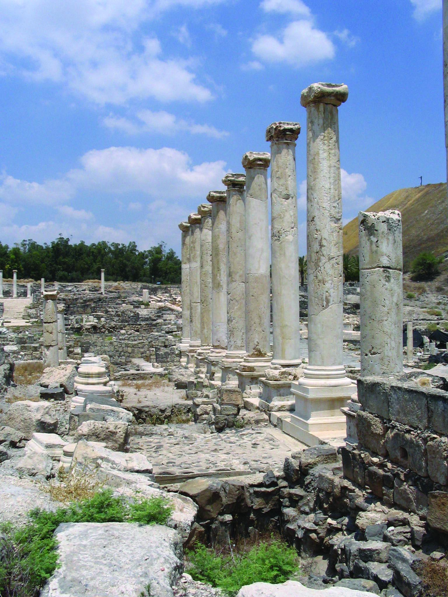 Ancient Temple Of Zeus In Zippori National Park Israel