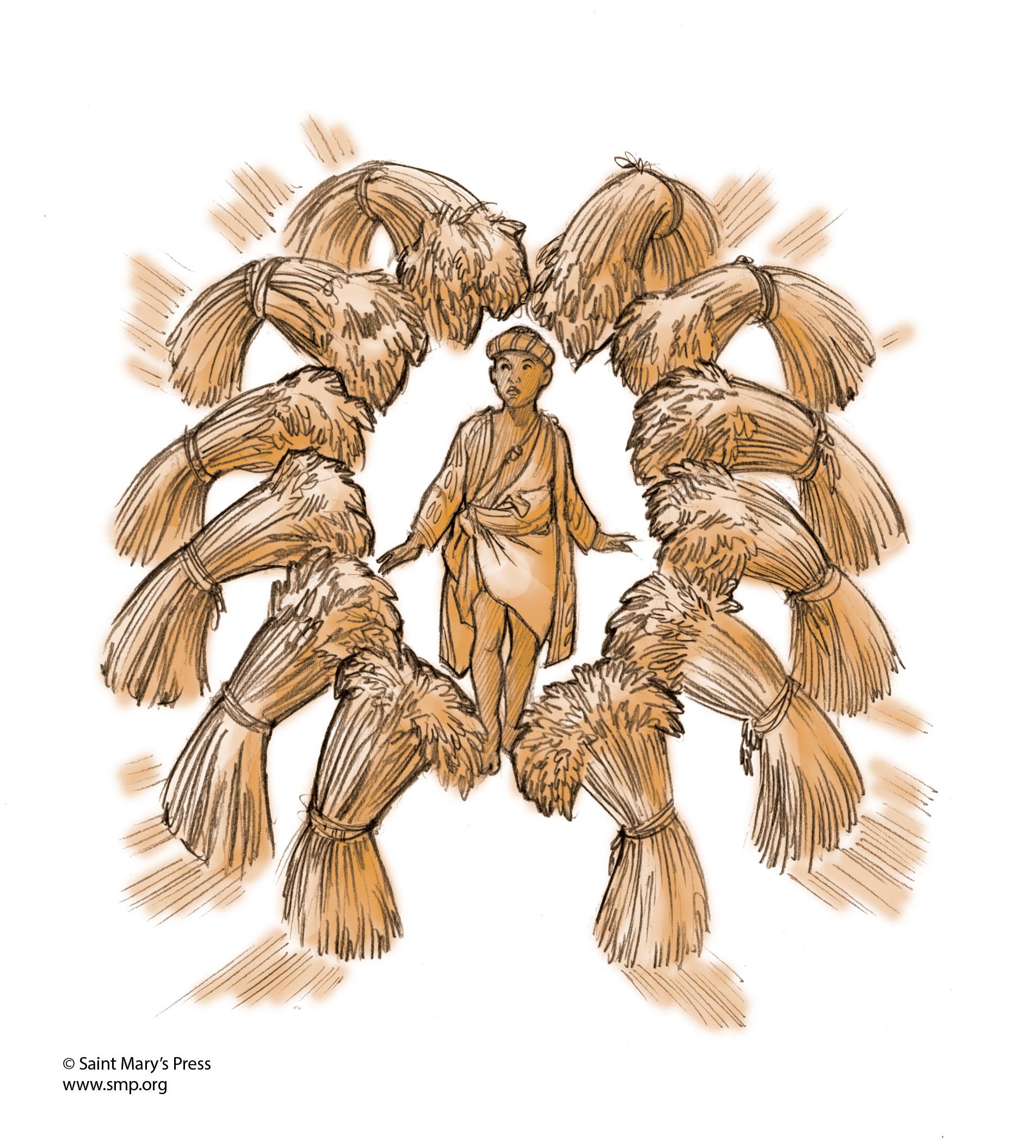 Joseph Dreams Of Sheaves Of Grain