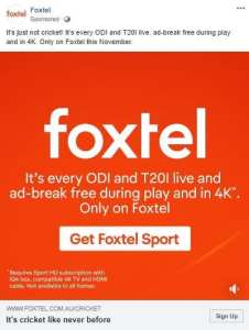 foxtel call to action variable