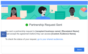 partnership request sent