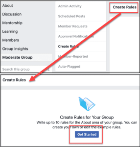 create rules page