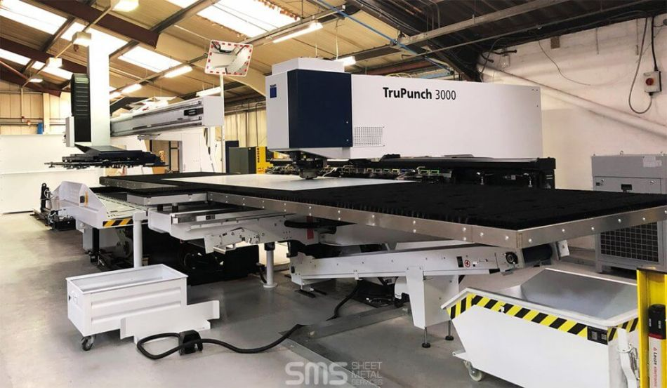 trumpf trupunch 3000 at Sheet Metal Services Liverpool