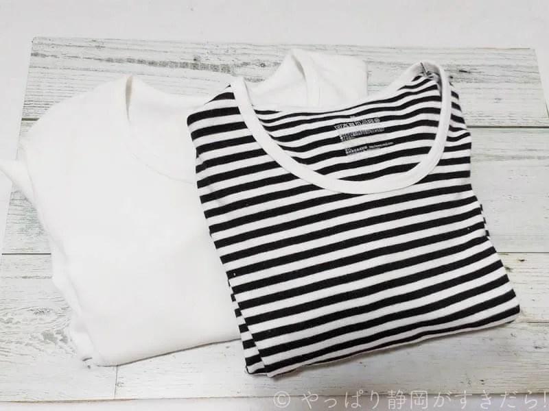 無印良品-ストレッチフライス編みクルーネック長袖Tシャツ