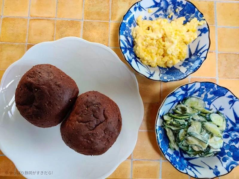 basefood-basebread-炒り卵キュウリ