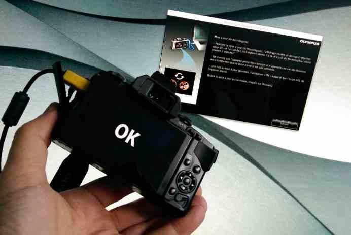 mise à jour appareil Olympus photo