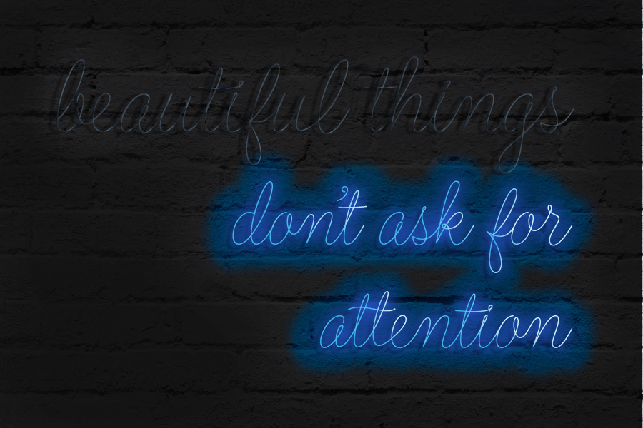 Neon Light Typography Quote Beautiful Things Don 39 T Ask