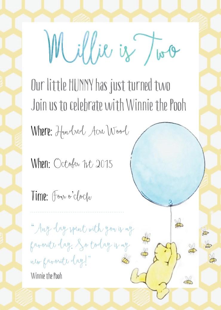 Winnie the Pooh Birthday Party - Smudgey