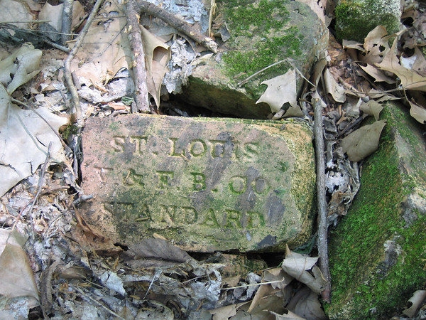 "One of many bricks stamped with the following:""ST. LOUIS V."