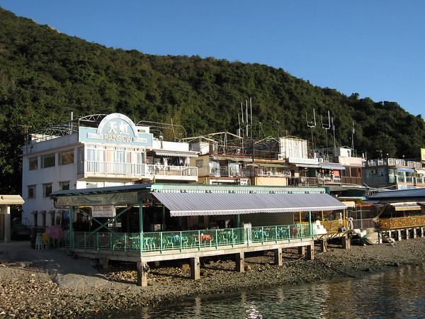 Many Seafood Restaurants at the Waterfront of Sok Kwu Wan