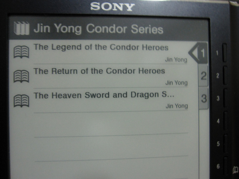 The Condor Trilogy Novels on Sony PRS505