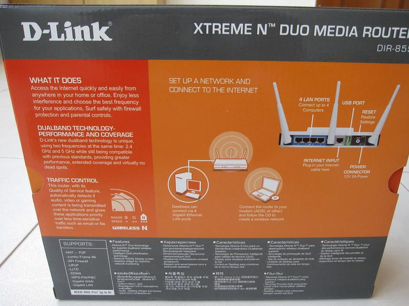 Dlink DIR 855 Wireless Xtreme-N Duo Gigabit Router