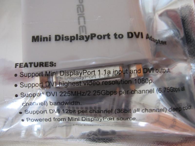 Monoprice MiniDisplay Port to DVI Adapter