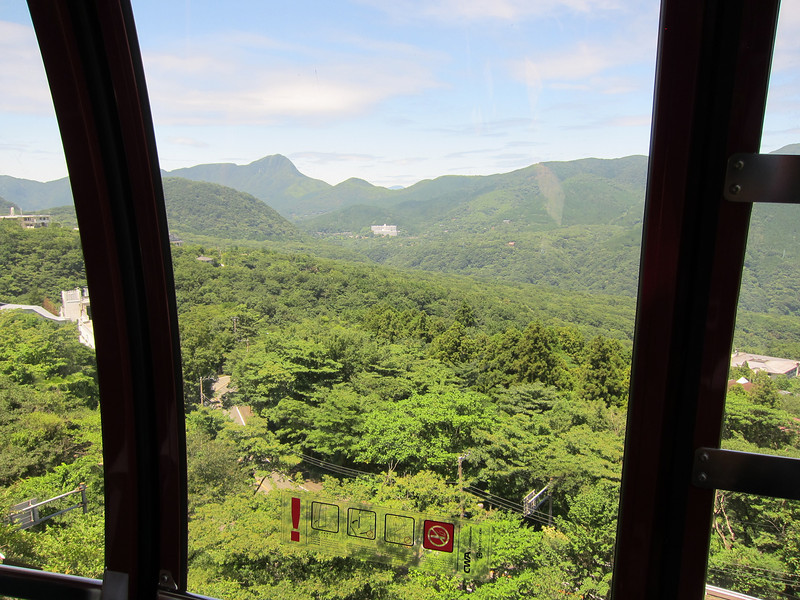 Hakone Ropeway between Sounzan and Togendai