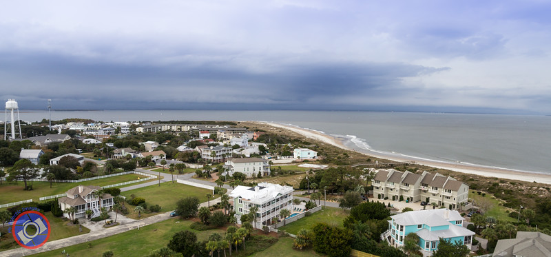 Beach View from the Top of the Tybee Island Lighthouse (©simon@myeclecticimages.com)