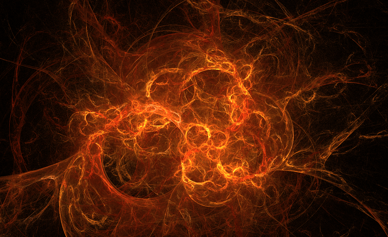A fractal flame randomly generated by Aphophysis